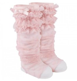 Baby Deer Pink Lace Peep Warmer