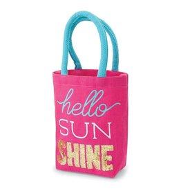 Mud Pie Hello Sunshine Mini Tote Bag