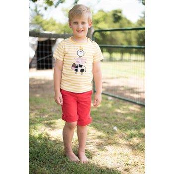 Rocking Baby Yellow Striped Farm Shirt