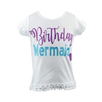 Reflectionz Birthday Mermaid Sparkle Shirt