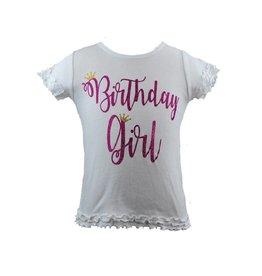 Reflectionz Hot Pink Glitter Birthday Girl Top
