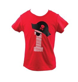 Little Rascals Red Pirate Birthday Boy Shirt