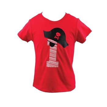 Little Rascals Red Pirate Birthday Boy Shirt