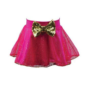 Reflectionz Gold Bow Hot Pink TuTu