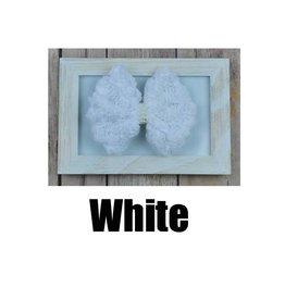 Reflectionz White Rosette Bow