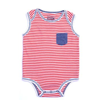 Kapital K Red and White Striped Onesie