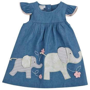 Mud Pie Elephant Chambray Dress