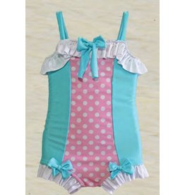 Muddy Feet Cotton Candy Vintage One Piece Swim Suit Tween
