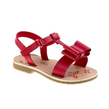 Laura Ashley Toddler Girls' Red Double Bow Sling-Back Sandals