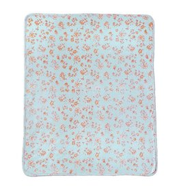 Mud Pie Blue Rose Blanket