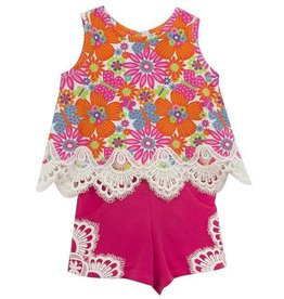 Rare Editions Flower Tunic And Short Set