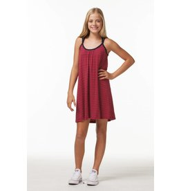 PP LA Navy and Red Stripped Dress
