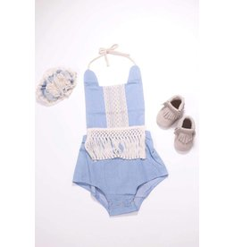 Chambray And Crochet Lace Bubble