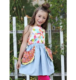 Mabel and Honey Blue Kerri multi-pocket Dress