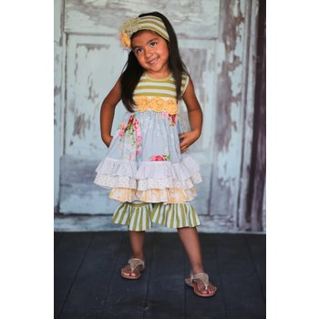 Giggle Moon Garden of Eden Maddison Dress w/ Ruffle Capris Set