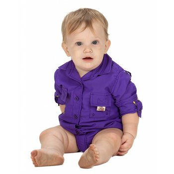 Bull Red Purple Fisher Onesie