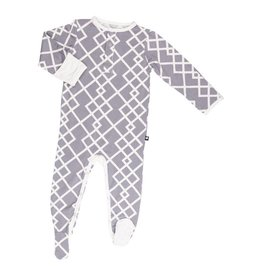 Sweet Bamboo Grey And White Footie