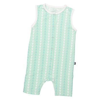 Mint And White Arrow Bamboo Romper