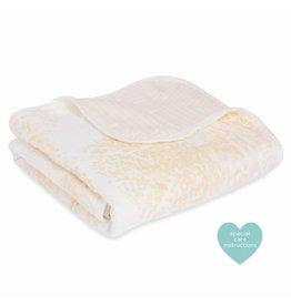 Aden + Anais Metallic Primrose Birch Bamboo Stroller Blanket