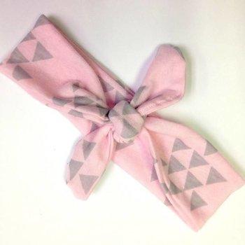 Wild Juniper Pink & Grey Triangle Turban Headband