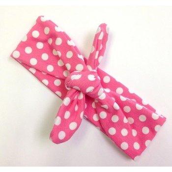 Wild Juniper Pink Polka Dot Turban Headband
