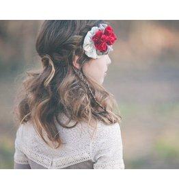 Whimsy Red Ivory Holiday Headband 0-12m