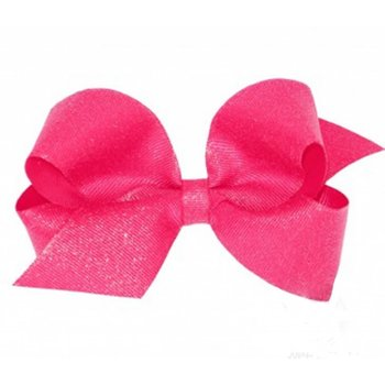Wee Ones Large Hot Pink Glitter Bow