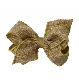 Wee Ones Small Burlap and Glitter Bow