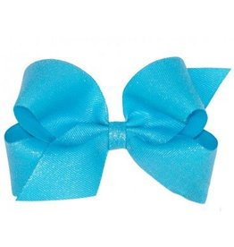 Wee Ones Large Turquoise Glitter Bow