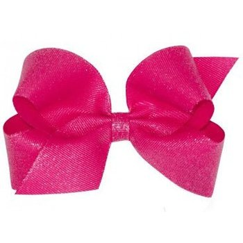 Wee Ones Large Weesparkle Pink Bow