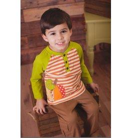 Wally & Willie Long Sleeve Pumpkin Applique Pant Set