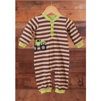 Wally & Willie Long Sleeve Tractor Romper