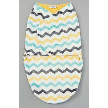 Vitamins Baby Chevron Fleece Swaddle Blanket