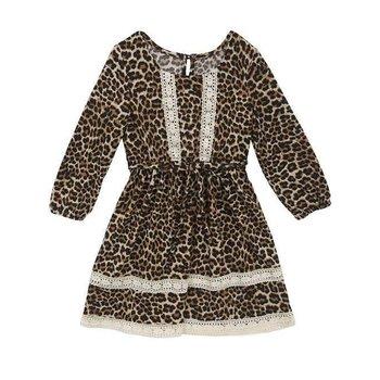 Tween Diva PRESALE Cheetah Knit Peasant Dress