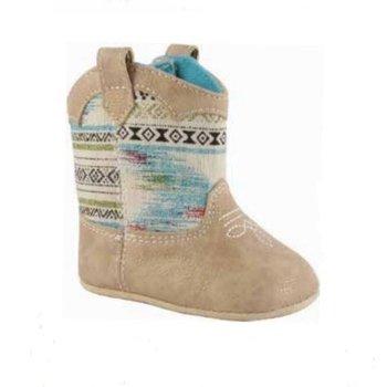 Baby Deer Tan Aztec Western Boot