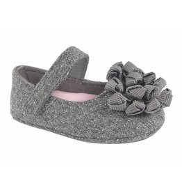 Baby Deer Silver Flower Toe Mary Jane Shoes