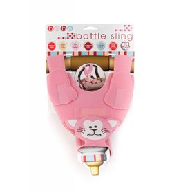Bebe Pink Cat Bottle Sling