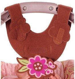 Bebe Brown w/Pink Flower Bottle Sling