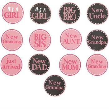 Mud Pie It's A Girl New Arrival Stickers