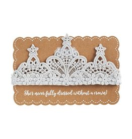 Mud Pie Silver Lace Crown Headband
