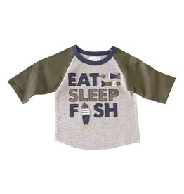Mud Pie Eat Sleep Fish Raglan