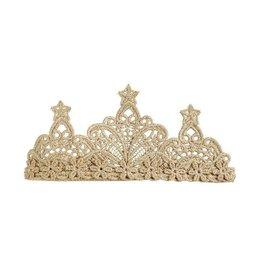 Mud Pie Gold Lace Crown Headband