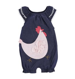 Mud Pie Chambray French Hen Bubble