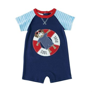 Mud Pie Puppy Float Raglan One Piece