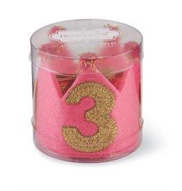 Mud Pie Pink & Gold Third Birthday Crown
