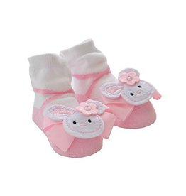 Mud Pie Pink Bunny Socks