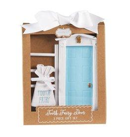 Mud Pie Blue Tooth Fairy Door Gift Set