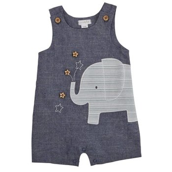 Mud Pie Elephant  Chambray Shortall