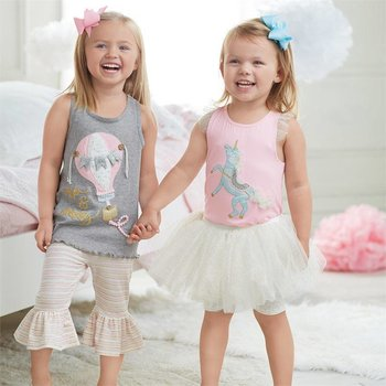 Mud Pie Hot Air Balloon Tunic And Capri Set