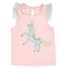 Mud Pie Unicorn Skirted Short Set